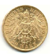 1902 German Mark Gold - 20 Piece