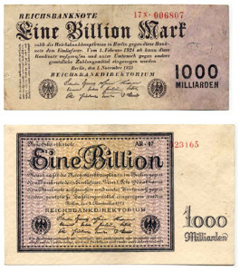 German Weimar Hyperinflation Bank Note